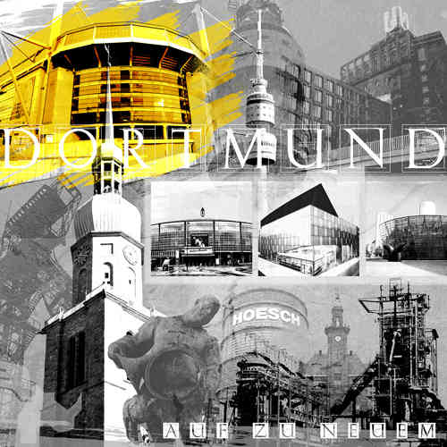 Dortmund Collage sw/gelb