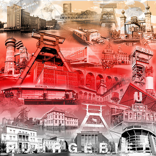Ruhrgebietscollage sw/rot