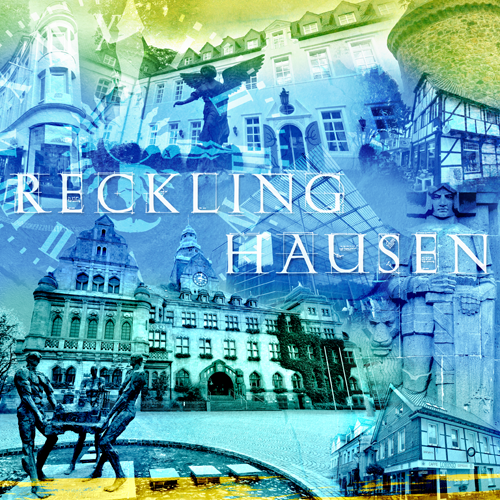 Recklinghausen Collage blau