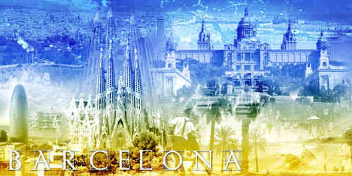 Barcelona Collage quer