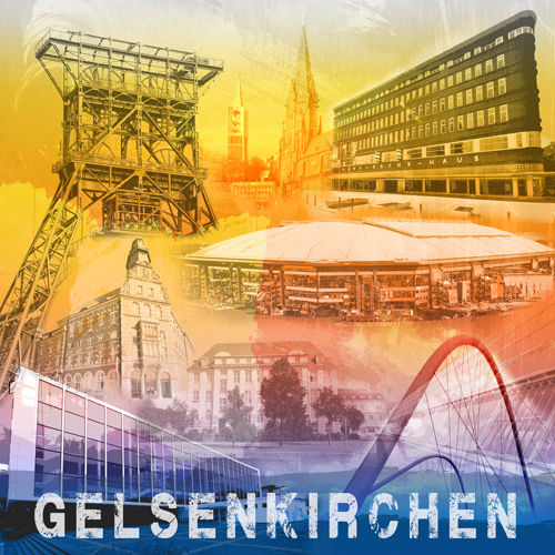 Gelsenkirchen Collage Regenbogen