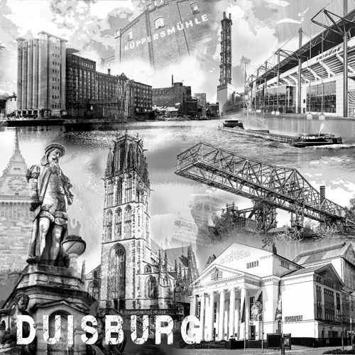 Duisburg Collage sw