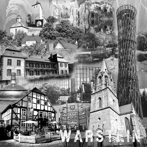 Warstein Collage sw