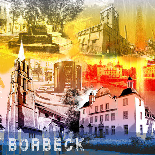 Essen Borbeck Collage regenbogen