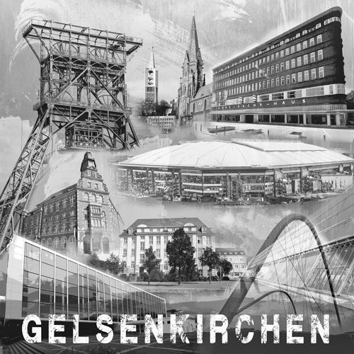 Gelsenkirchen Collage sw