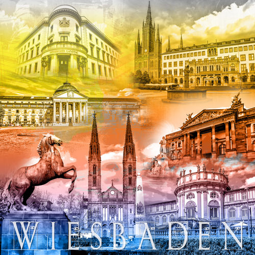 Wiesbaden Collage Regenbogen